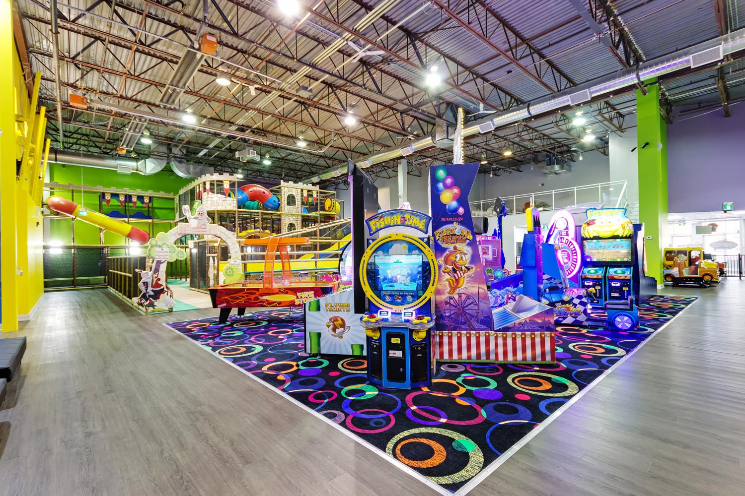 Indoor Jungle Gym, Trampolines, & Arcade Games