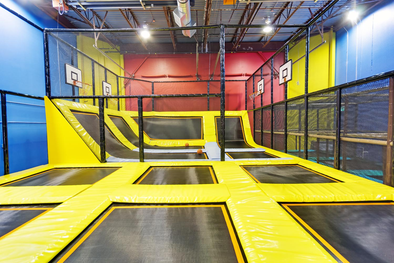 Indoor Trampoline Area at Playtopia Indoor Playground