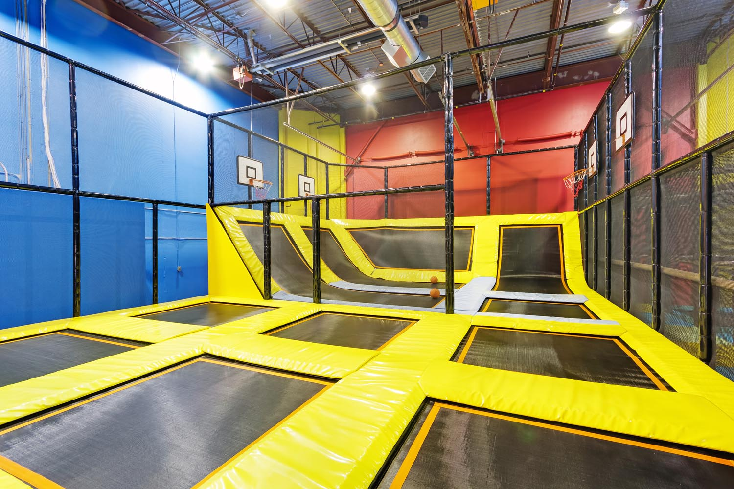 Indoor Trampoline Park at Playtopia