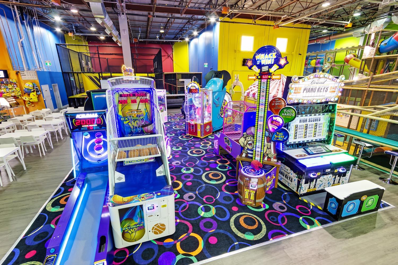 Arcade for Kids at Playtopia Indoor Playground Toronto