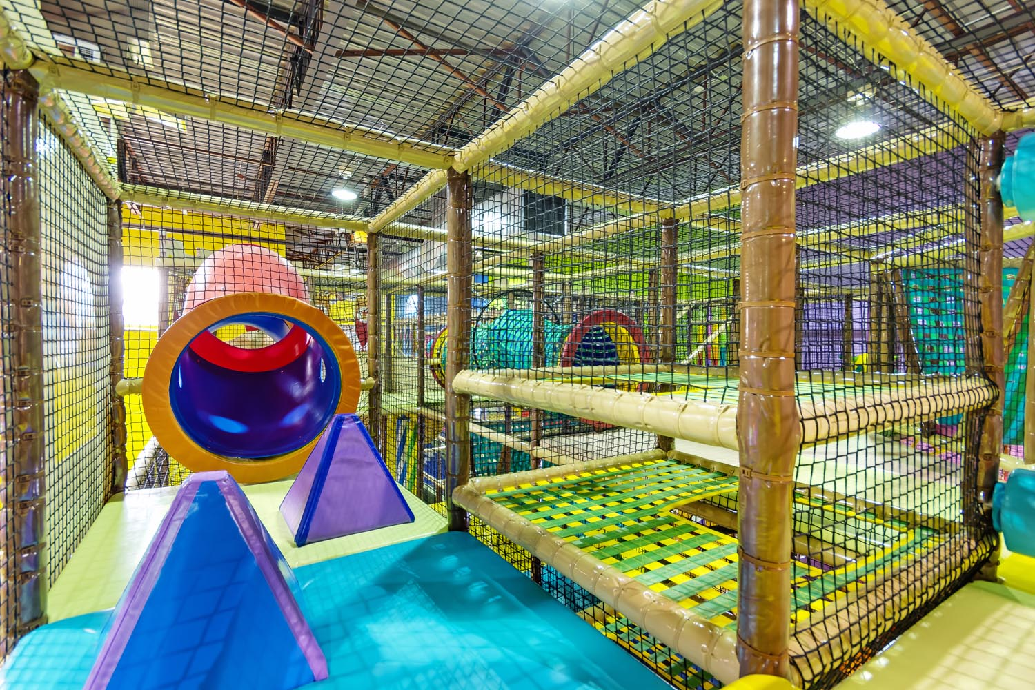 Indoor Jungle Gym at Playtopia